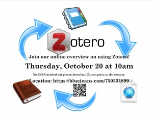 Zotero Tutorial Flyer - Fall 2016
