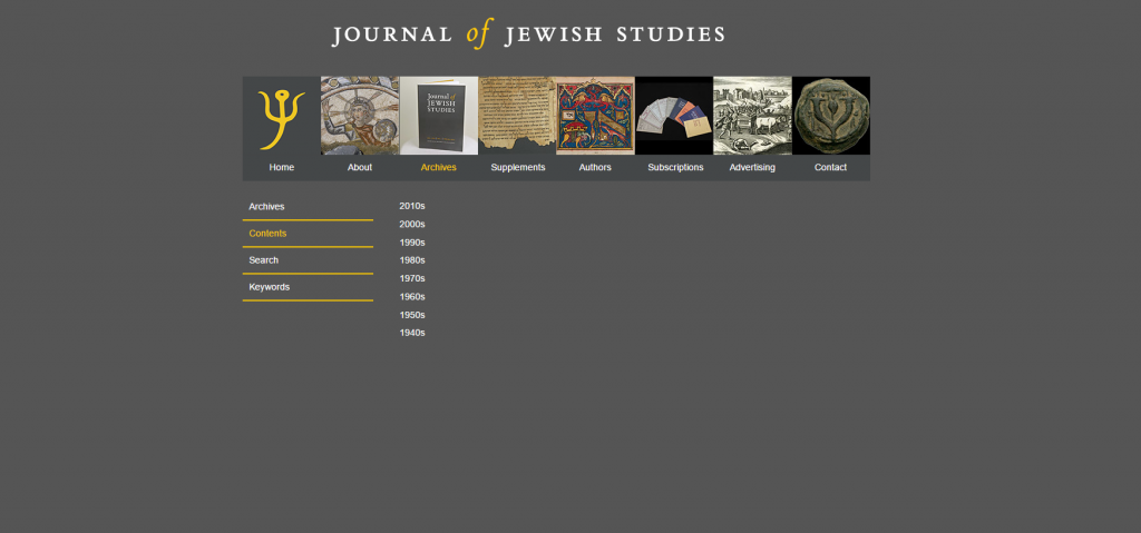 journal of jewish studies