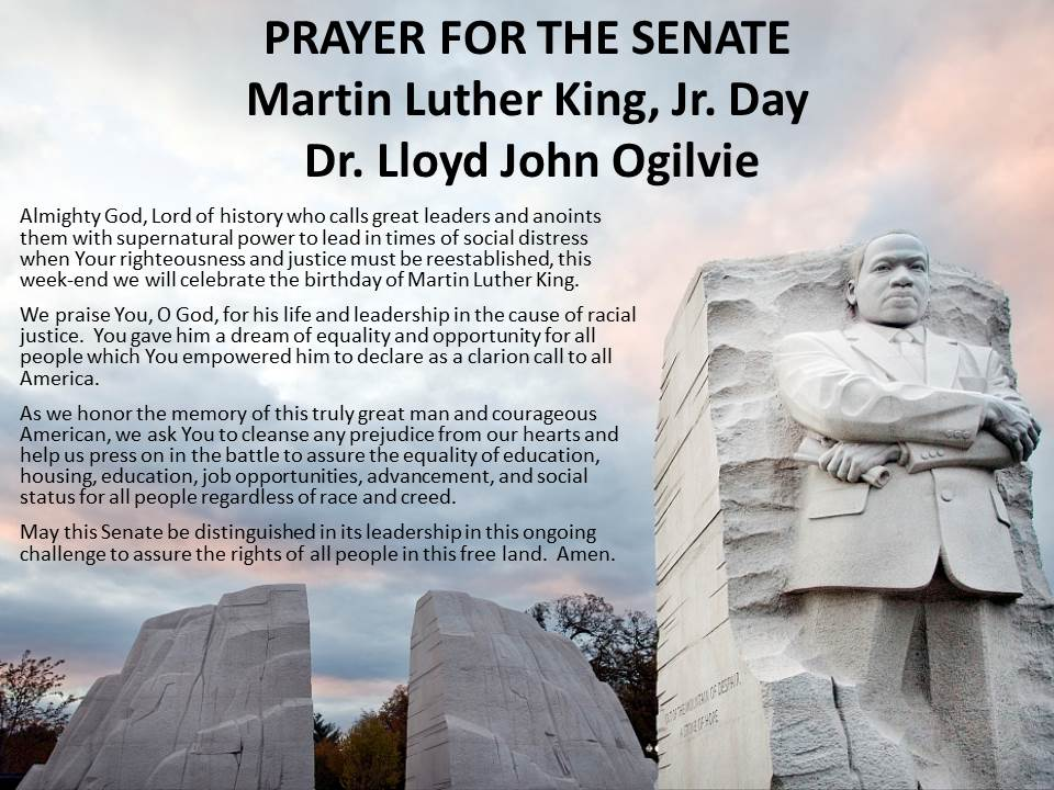 MLK Day PRAYER FOR THE SENATE
