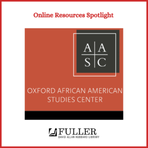 Oxford African American Studies Center Collection image