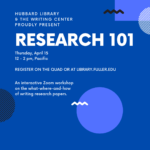 Research 101 Workshop image